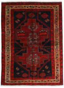 Lori Teppe 156X211 Ekte Orientalsk Håndknyttet Mørk Brun/Mørk Rød (Ull, Persia/Iran)