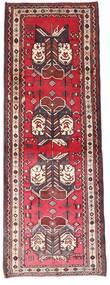 Afshar Teppe 90X238 Ekte Orientalsk Håndknyttet Teppeløpere Mørk Brun/Mørk Rød (Ull, Persia/Iran)