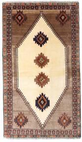 Ghashghai Teppe 128X224 Ekte Orientalsk Håndknyttet Beige/Mørk Brun (Ull, Persia/Iran)