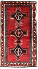 Shiraz Teppe 122X222 Ekte Orientalsk Håndknyttet Mørk Brun/Rød (Ull, Persia/Iran)