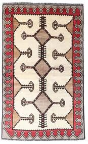 Shiraz Teppe 123X204 Ekte Orientalsk Håndknyttet Beige/Mørk Brun (Ull, Persia/Iran)