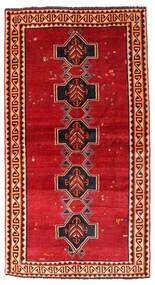 Shiraz Teppe 122X226 Ekte Orientalsk Håndknyttet Rust/Mørk Rød (Ull, Persia/Iran)