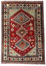 Ghashghai Teppe 136X197 Ekte Orientalsk Håndknyttet Mørk Rød/Mørk Grå (Ull, Persia/Iran)