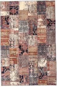 Patchwork - Persien/Iran Teppe 195X298 Ekte Moderne Håndknyttet Mørk Rød/Beige (Ull, Persia/Iran)
