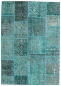 Patchwork - Persien/Iran Teppe 140X200 Ekte Moderne Håndknyttet Turkis Blå/Turkis Blå (Ull, Persia/Iran)