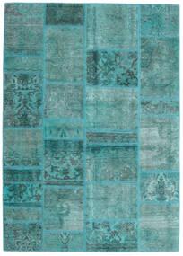 Patchwork - Persien/Iran Teppe 141X198 Ekte Moderne Håndknyttet Turkis Blå/Turkis Blå (Ull, Persia/Iran)