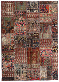 Patchwork - Persien/Iran Teppe 144X201 Ekte Moderne Håndknyttet Mørk Rød/Mørk Brun/Lysbrun (Ull, Persia/Iran)