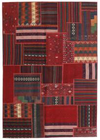 Tekkeh Kelim Teppe 140X200 Ekte Moderne Håndvevd Mørk Rød/Mørk Blå (Ull, Persia/Iran)