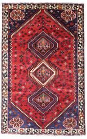 Shiraz Teppe 152X243 Ekte Orientalsk Håndknyttet Mørk Rød/Rød (Ull, Persia/Iran)