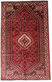 Shiraz Teppe 156X248 Ekte Orientalsk Håndknyttet Mørk Rød/Rust (Ull, Persia/Iran)