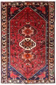 Shiraz Teppe 165X250 Ekte Orientalsk Håndknyttet Mørk Rød/Rust (Ull, Persia/Iran)