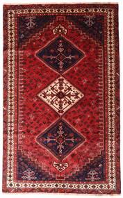 Shiraz Teppe 152X247 Ekte Orientalsk Håndknyttet Mørk Rød (Ull, Persia/Iran)