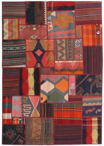 Tekkeh Kelim Teppe 141X201 Ekte Moderne Håndvevd Mørk Rød/Svart (Ull, Persia/Iran)