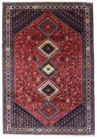 Yalameh Teppe 203X294 Ekte Orientalsk Håndknyttet Mørk Rød/Svart (Ull, Persia/Iran)