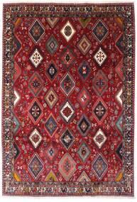 Yalameh Teppe 200X292 Ekte Orientalsk Håndknyttet Mørk Rød (Ull, Persia/Iran)