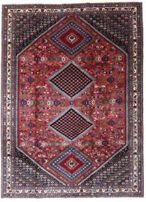 Yalameh Teppe 205X280 Ekte Orientalsk Håndknyttet Mørk Brun/Lys Grå (Ull, Persia/Iran)