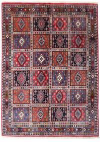 Yalameh Teppe 169X232 Ekte Orientalsk Håndknyttet Mørk Lilla/Lys Grå (Ull, Persia/Iran)