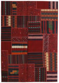 Tekkeh Kelim Teppe 141X202 Ekte Moderne Håndvevd Mørk Rød (Ull, Persia/Iran)