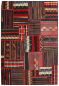Tekkeh Kelim Teppe 139X201 Ekte Moderne Håndvevd Mørk Rød/Svart (Ull, Persia/Iran)
