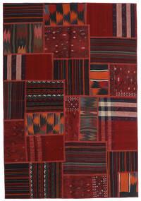 Tekkeh Kelim Teppe 138X201 Ekte Moderne Håndvevd Mørk Rød (Ull, Persia/Iran)