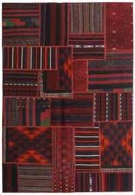 Tekkeh Kelim Teppe 140X202 Ekte Moderne Håndvevd Mørk Rød (Ull, Persia/Iran)