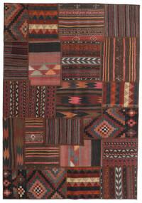 Tekkeh Kelim Teppe 139X201 Ekte Moderne Håndvevd Mørk Brun/Mørk Rød/Svart (Ull, Persia/Iran)