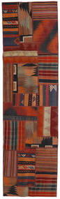 Tekkeh Kelim Teppe 70X251 Ekte Moderne Håndvevd Teppeløpere Mørk Rød/Mørk Blå (Ull, Persia/Iran)