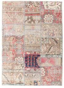 Patchwork - Persien/Iran Teppe 107X150 Ekte Moderne Håndknyttet Lys Grå/Hvit/Creme (Ull, Persia/Iran)