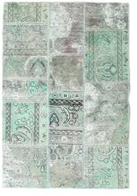 Patchwork - Persien/Iran Teppe 106X157 Ekte Moderne Håndknyttet Lys Grå/Pastell Grønn (Ull, Persia/Iran)
