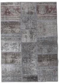 Patchwork - Persien/Iran Teppe 106X152 Ekte Moderne Håndknyttet Lys Grå/Mørk Grå (Ull, Persia/Iran)