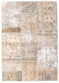 Patchwork - Persien/Iran Teppe 107X154 Ekte Moderne Håndknyttet Lys Grå/Beige/Hvit/Creme (Ull, Persia/Iran)