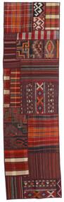 Tekkeh Kelim Teppe 71X250 Ekte Moderne Håndvevd Teppeløpere Mørk Rød (Ull, Persia/Iran)