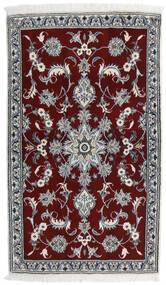 Nain Teppe 84X141 Ekte Orientalsk Håndknyttet Mørk Rød/Lys Grå (Ull, Persia/Iran)