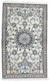 Nain Teppe 87X143 Ekte Orientalsk Håndknyttet Lys Grå/Hvit/Creme (Ull, Persia/Iran)