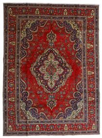 Tabriz Teppe 300X408 Ekte Orientalsk Håndknyttet Mørk Rød/Mørk Grå Stort (Ull, Persia/Iran)