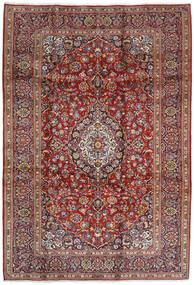 Keshan Teppe 207X304 Ekte Orientalsk Håndknyttet Mørk Rød/Mørk Brun (Ull, Persia/Iran)