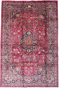 Mashad Teppe 198X290 Ekte Orientalsk Håndknyttet Mørk Lilla/Lyserosa (Ull, Persia/Iran)