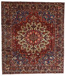 Bakhtiar Teppe 310X358 Ekte Orientalsk Håndknyttet Mørk Rød/Mørk Grå Stort (Ull, Persia/Iran)