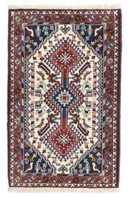 Yalameh Teppe 64X100 Ekte Orientalsk Håndknyttet Svart/Mørk Grå (Ull, Persia/Iran)