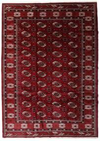 Turkaman Teppe 204X285 Ekte Orientalsk Håndknyttet Mørk Rød/Mørk Brun (Ull, Persia/Iran)