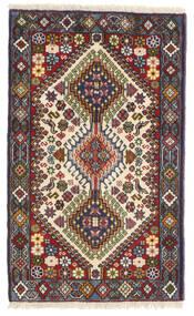 Yalameh Teppe 61X98 Ekte Orientalsk Håndknyttet Mørk Brun/Mørk Rød (Ull, Persia/Iran)