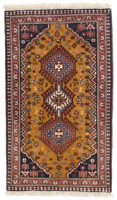 Yalameh Teppe 60X102 Ekte Orientalsk Håndknyttet Mørk Brun/Mørk Rød (Ull, Persia/Iran)