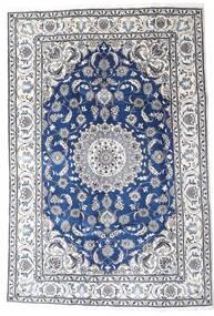 Nain Teppe 195X290 Ekte Orientalsk Håndknyttet Lys Grå/Hvit/Creme (Ull, Persia/Iran)