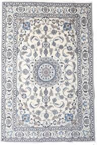 Nain Teppe 189X283 Ekte Orientalsk Håndknyttet Lys Grå/Beige/Hvit/Creme (Ull, Persia/Iran)