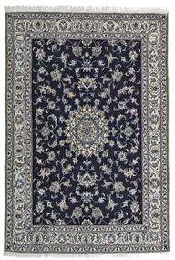 Nain Teppe 164X242 Ekte Orientalsk Håndknyttet Svart/Lys Grå (Ull, Persia/Iran)