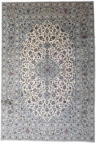 Keshan Teppe 246X366 Ekte Orientalsk Håndknyttet Lys Grå/Mørk Grå (Ull, Persia/Iran)