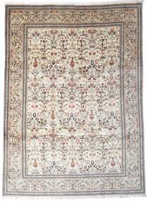 Tabriz Teppe 257X347 Ekte Orientalsk Håndknyttet Lys Grå/Beige Stort (Ull, Persia/Iran)