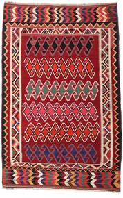 Kelim Vintage Teppe 147X234 Ekte Orientalsk Håndvevd Mørk Rød/Hvit/Creme (Ull, Persia/Iran)