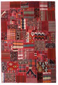 Tekkeh Kelim Teppe 200X300 Ekte Moderne Håndvevd Mørk Rød/Mørk Brun (Ull, Persia/Iran)