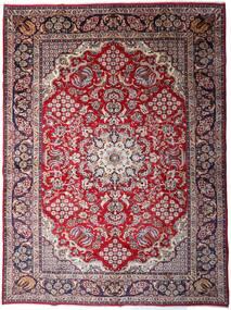 Najafabad Teppe 299X403 Ekte Orientalsk Håndknyttet Mørk Brun/Lyselilla Stort (Ull, Persia/Iran)